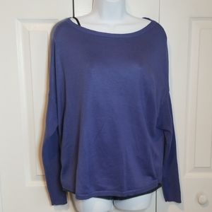 New York & Co Blue Light Wt. Boat Neck Sweater